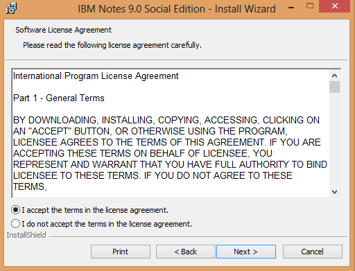 Know procedure of installation configuration of ibm notes 9 on ensure to check installation paths note my existing setup is client only installer i dont have the multi user option available platinumwayz