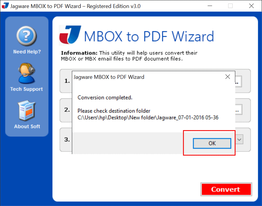 Mbox zu pdf Konverter
