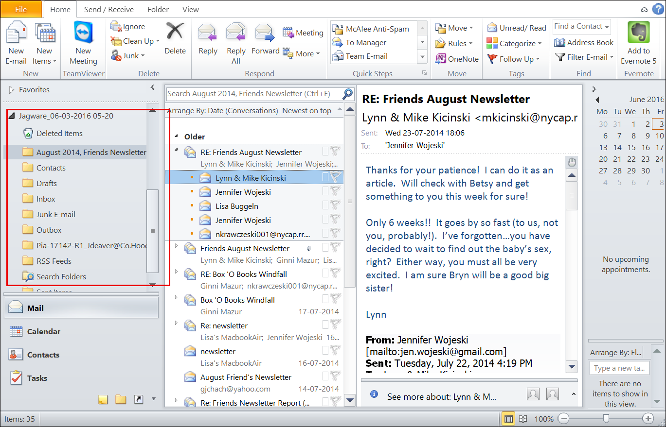 ms outlook how to change data file